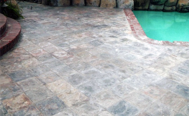 Black Slate Brick Natural Stone Tiles Xmm