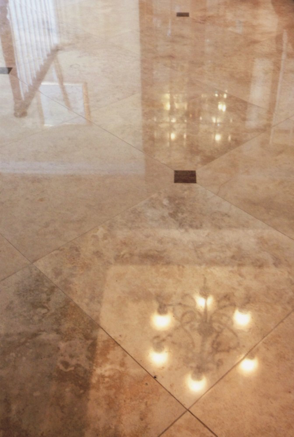 Travertine Cleaning And Polishing In Huntington Beach
