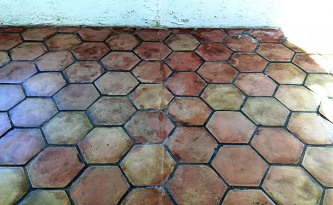 Hexagonal Mexican Pavers After