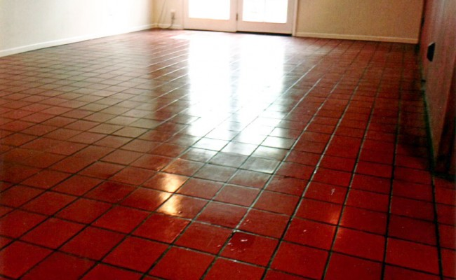 Cleaning A Quarry Tile Living Room In Costa Mesa Vaporlux Stone