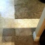 Cleaning of a Travertine Floor in Laguna Niguel